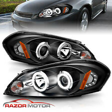 2006 2013 For Chevy Impala06 07 Monte Carlo Black Projector Headlights Fits 2006 Impala