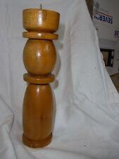 Kerzenständer Holz, gedreht, neu, 26,5 cm hoch, gedrechselt, Kerzenhalter