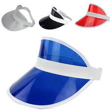PVC Shade Cap Empty Top Chapeau Sunscreen Hat Beach Hats Sun Visor Caps New