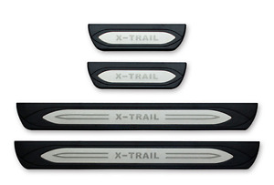 Door sill scuff plate Guards protector Step trim For Nissan X trail 2014-up