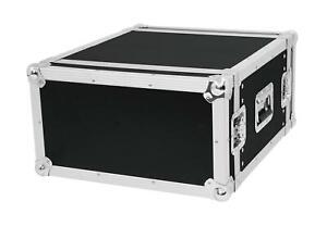 6 HE DOUBLE Door Flightcase Case Rack PA DJ Endstufe Schrauben Multiplex