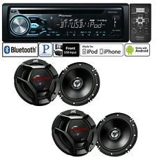 Pioneer Car Stereo Radio Bluetooth CD Player + 2 Pair JVC 6.5