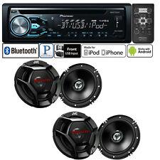 Pioneer Car Stereo Radio Bluetooth CD Player + 2 Pair (4) Car Speakers