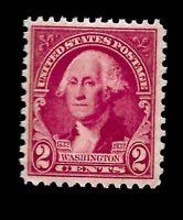 US 1932 Sc# 707 2 c Washington Bicentennial Mint NH - Vivid Color - Centered
