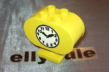 Lego Duplo Eisenbahn Bahnhof  große Uhr für Haltestelle  Ville Clock gelb