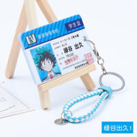 My Hero Academia Deku Cosplay Hero Student ID Card Holders Midoriya Key Chains