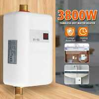 3800W Instant Electric Hot Water Heater Kitchen Bathroom Tankless Shower System
