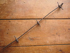 HANSON'S SLOT LOCK SHEET METAL CLIP VERTICAL FENCE  STAY -  ANTIQUE BARBED WIRE