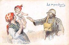 C5905) WW1, LA MASCHERA ANTIGAS, ILLUSTRATORE ATTILIO.