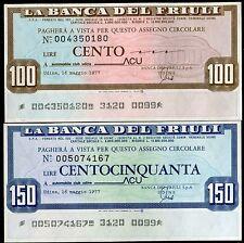 BANCA DEL FRIULI 16/5/1977 AUTOMOBILE CLUB UDINE-ACU L.100+150