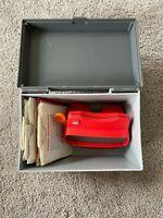 View-Master 3D Viewer Orange Lever w/ storage case and Children's Reels