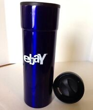 eBayana Old Logo Blue Water Bottle 16 oz Screw-on Sippy Lid Beverage Container