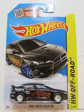 HOT WHEELS 2015 HW OFF-ROAD 2008 LANCER EVOLUTION CUSTOM MADE