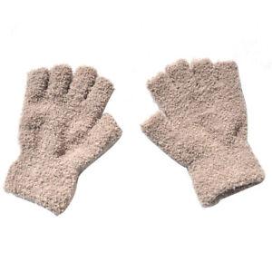 Unisex Soft Half Fingerless Gloves Women Men Warm Knitted Mittens Couple Winter❥