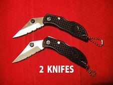 2X Portable Camping Outdoor Fishing Survival Pocket Folding Locking Blade Knife