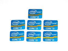 Intel Inside Core i3 sticker azul Blue 7x trozo PCs pegatinas Label nuevo logotipo New