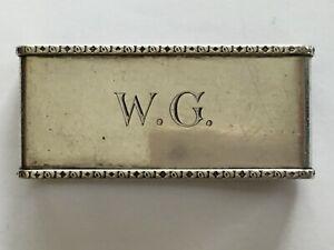 Serviettenring Lutz & Weiss Rechteckig, florale Ränder, 800 Silber, 36,9 gr