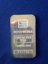 Simmons Refco Metals SIM-3 Silver Art Bar P0971