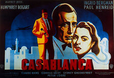 """CASABLANCA"" ..Bogart & Bergman All Time Classic Movie Poster A1 A2 A3 A4Sizes"