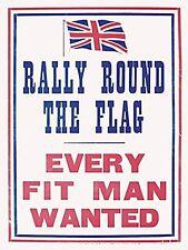 Rally round the flag small acier signe 200mm x 150mm (og) réduit