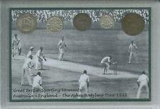 England Cricket il Bodyline ceneri Tour Series Australia moneta Fan Regalo Set 1933