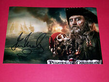 IAN MCSHANE HAND SIGNED 12X8 PHOTO AUTOGRAPH PIRATES OF THE CARIBBEAN