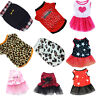Pet Dog Clothing Puppy Cat Printed Dress Skirt Clothes Apparel Casual Costume