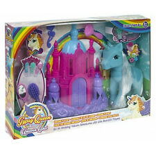 UNICORN LAND PLAY SET GIRLS TOY GIFT FIGURES ACCESSORIES CASTLE HAIR HORSE NEW