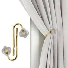 2x Metal Crystal Curtain Holdback Wall Tie Backs Hooks Hanger Holder Home Decor