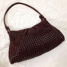 Sigrid Olsen Brown Woven Leather Shoulder Bag Handbag