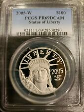 2005-W $100 PCGS PR69 DCAM PLATINUM STATUE OF LIBERTY