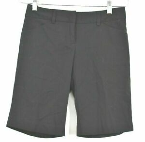 Daisy Fuentes Women's Size 2 Petite Black Knee Length Dress Work Casual Shorts