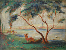 Peintures et émaux du XIXe siècle et avant sur toile paysage