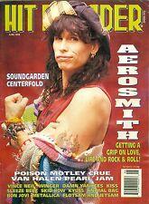 1993 Hit Parader magazine Steven Tyler of Aerosmith cover Soundgarden centerfold