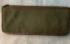 Vintage 1940's Or 50's L. L. BEAN Red Tag Trade Mark Green Canvas Leather Pouch