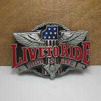 Men's Western Motorcycle Punk Rock Cowboy Alloy Leather Belt Buckle #02491