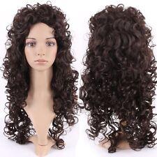 2016 Women Long Curly Hair Wig Fluffy Wave Black Women Dress Heat Ressitant Wigs
