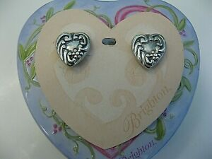 Brighton Large CLASSIC HEART Decorative Earrings ~ Altered ~ PRETTY!