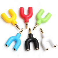 1x 3.5mm Stereo Splitter Audio to Mic&Headset Jack Plug Adapter For iPhone Phone