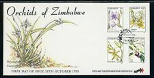 Zimbabwe Scott #692-695 FIRST DAY COVER Orchids Flowers FLORA $$