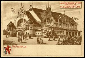 DÜSSELDORF 1902 INDUSTRIAL & ARTS EXPOSITION POSTCARD - FESTIVAL HALL