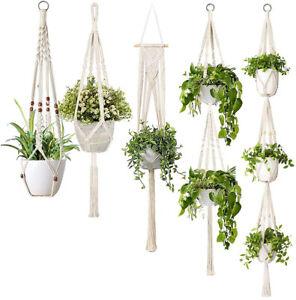 16type Macrame Plant Hangers Cotton Rope Indoor Outdoor for Garden Plants
