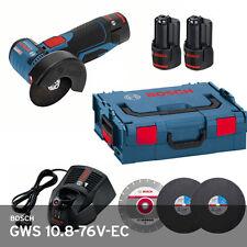 "Bosch GWS 10.8-76 V-EC Professional Cordless 3"" Angle Grinder 19500Rpm (2x2.0Ah)"