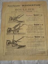 CATALOGO VINTAGE BROCHURE mackston erba cutter 1920s francese