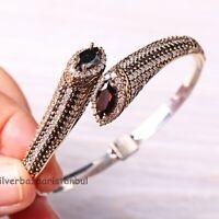 Turkish Handmade Jewelry Sterling Silver 925 Black Onyx New Bracelet Bangle Cuff