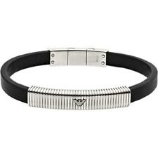 Emporio Armani Mens Bracelet EGS2656040  Leather Black