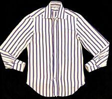 Barba Napoli Men's Button Down Dress Shirt Size 40 -15/34.        C5#9