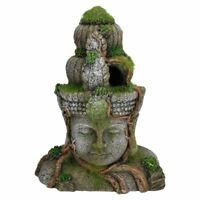 Aquatic Aquarium Decor Moss Covered Head Small Fish Tank Ornament 15x8x20cm