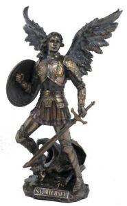 Archangel Saint Michael Male Angel Veronese Bronze Figurine Statue