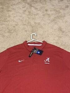 Mens 3XL Alabama Crimson Tide Tuscaloosa Nike Short Sleeve Polo Shirt NWT